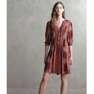 11.1 tylho  plaid tunic dress anthropologie